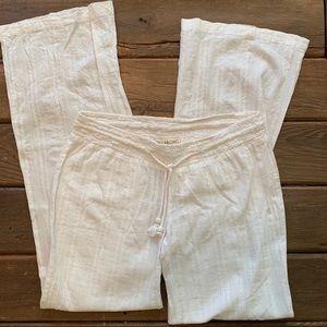 White Billabong Beach Pants